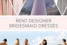 Rent Designer Bridesmaid Dresses