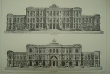 old architecture drawing