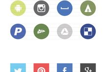 social icons design