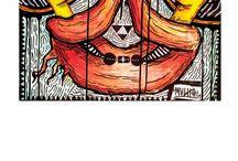 Postales Studio de Arte y Diseño / Encuéntralos en nuestros Studios de Arte y Diseño. - Desde el jueves 23 de Abril Gracias a la #LaOtraCaraDelPapel y a los artistas: * Yulia Katkova * Jimbo * TheArtof Mucho * Shila Acosta * Eduardo yaguas