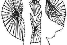 Панно из гвоздей и ниток