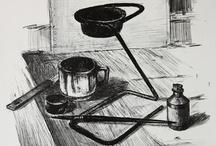 drawing,graphic painting / Danish artist, born 48