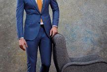 yellow tie blue suit