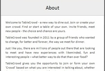 TableCrowd News and Updates