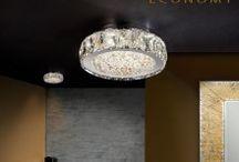 Dana Schuller Collection / La colección Dana de Schuller está compuesta por plafones led de tres tamaños y lámpara colgante. Su diseño con cristales copens y ámbar hacen de esta colección una pieza decorativa que no pasará desapercibida para nadie.