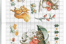 Cross stitch - squirrels