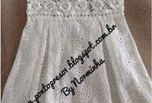 vestidos crochet ninlas