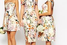 floral bridesmade dress