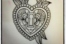 padlock tattoodraw