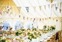 wedding flowers - cottage garden marquee