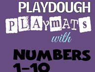 playdough mat 1-10