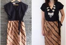 chic batik dress