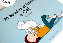 Cat Books / Lingvistov creates books with funny and cute illustrations! It's perfect for children, your friends and loved ones! So many cats...