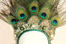 peacock headpiece