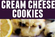 Cookies blueberry cream cheese cookies with lemon glaze