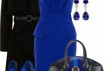 Šaty modré a tyrkysové