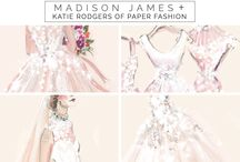 madison james + paperfashion / We're so excited that the incredibly talented Katie Rodgers of Paperfashion has made the Madison James debut collection into works of art.  / by Allure Bridals