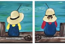 Acrylic paintings for Couples /  Paintings that stand alone or but are created to be displayed as a pair.
