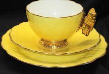 Tea cups saucers tea pots