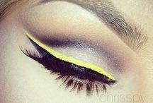 Neon Make Up / Neon make up inspiration. Bright, bold beauty looks.