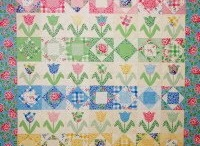 My Quilts / These are some of the quilts I have made over the years, mostly with fabric that I designed.  Some are available as patterns at www.hollyhockquilts.com!
