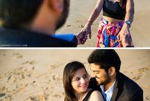 Poses fotos na praia