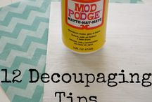 decoupaging tips