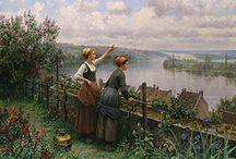 Живопись.  Daniel Ridgway Knight 1839-1924 / Пейзажная живопись.