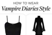 Vampire costume black dress