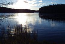 Saarijärvi, Finland / Autumn 2013.  Iso Sääkspää ja Pieni Sääkspää, lapsuuden kesäpäiviä vietettiin näillä rannoilla. Monia mukavia hetkiä sisarusten kanssa.