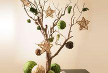 alberi natalizi con rami secchi