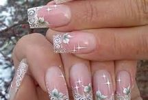 unghie decorate pizzo