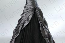 Grey, silver dresses