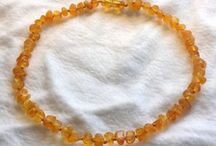 Amber Baby Necklaces / Natural Baltic Amber Baby Necklaces