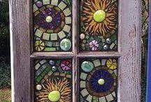 use veche transformata in panou cu mozaic