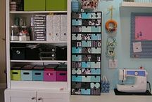 Sewing/ creativity room storage ideas