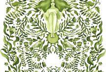 Patrones de Ilustración y Módulos Textiles
