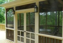 Screen in porch and deck