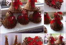 Pletení z papíru - Vánoce