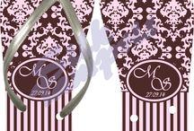 Chinelos Personalizados / Chinelos (tipo havaianas) personalizados para lembrança de  casamentos, aniversários e brindes. Uma lembrança barata e com certeza as convidadas irão adorar.