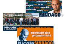 Campagne elettorali / Campagne politiche curate per i nostri clienti.