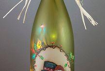 Garrafas Decoradas / Reciclagem de garrafas de vidro! Vinho, wisk, azeite, outras... / by Gilmara Braga