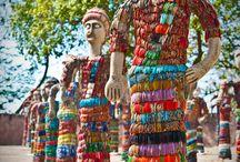 Mosaics: sculptural