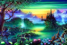 Фэнтези, пейзажи