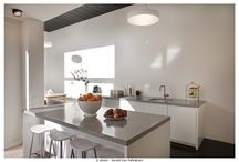 David&Goliath Kitchen-tops / Handmade kitchen tops: glazed lava stone or terrazzo.