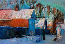 Winter Paintings / My Winter Oil Paintings 2015