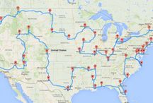 Travel across America map