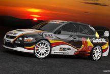 Srnka Motorsport - T. Ondrej - A. Gomori (Mitsubishi Lancer Evo IX, Škoda Fabia S2000) / Design and wrap.