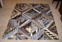 Neck Ties - Great Craft Idea / What can you do with old out-dated men's neck ties? Here are some gorgeous results!