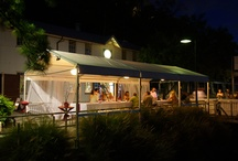 Riverside Marquee / The Riverside Marquee is perfect for smaller functions, situated beside the river, it's intimate, offers magnificent views of sunsets, Botanical Gardens, marine and the city light of Brisbane.  This outdoor marquee is best suited for wedding ceremonies, private parties, interval drinks, lunches or intimate wedding receptions.